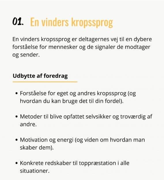 En vinders kropssprog, Jesper Bergstrøm, foredrag, SPESKERSlounge, kropssprog, kommunikation, motivation, arbejdsglæde, smil dig glad